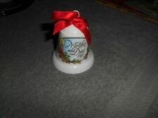Hallmark - 1988 Christmas Bell - ( Mother & Dad 1988 ) Made In Taiwan