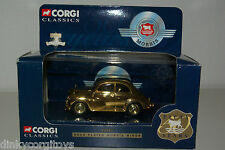 CORGI 2002 MORRIS MINOR GOLD PLATED MINT BOXED
