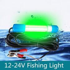 180 LED Green Underwater Submersible Boat Night Fishing Fish Light Squid 12V 8W