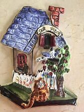 """Heather Goldminc Blue Sky """"Our Place"""" Clayworks Ceramic Wall Art Home Cat"""