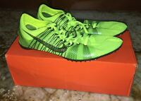 NIKE Victory Elite Carbon VOLT Yellow Mid Distance Track Spike Shoes Men 11.5 12