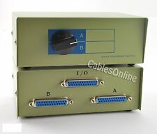 CablesOnline 2-Way A/B DB25 Parallel Printer Rotary Switch Box, Metal SB-001