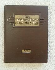 Vintage Vet 1954 Veterinarian Daily Record Book with Services Rendered & Prices