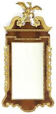 Georgian-Style Looking Glass Gilt broken arch pediment with large ea. Lot 1181