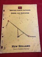 1960 New Holland Service Parts catalog Model 545 Elevator