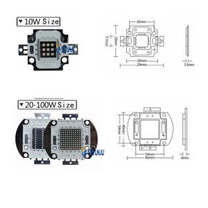 10W 20W 30W 50W 100W Power Led Ultraviolet UV Lamp 365NM 395NM 420NM