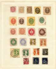 Switzerland collection of (24) old cut squares mounted on page