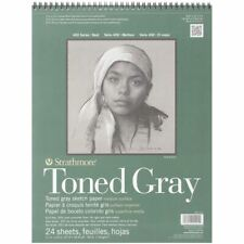 "Strathmore Toned Sketch Spiral Pad 11""X14""-Gray 24 Sheets -412111"