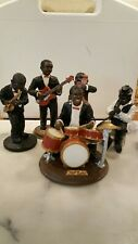 "Collection Of 5 Black Jazz Band Americano  Figurines  (Approx  6"")"