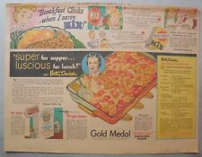 Kix Cereal Ad: Betty Crocker Recipe from 1930's-1940's 11 x 15 inches