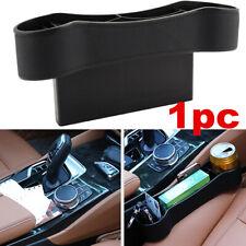 Auto Car Seat Gap Catcher PU Storage Box Organizer Cup Crevice Pocket Black