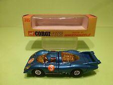 CORGI TOYS WHIZZWHEELS 385 PORSCHE 917 - BLUE 1:43 - NMIB