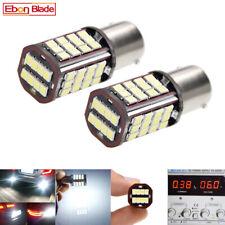 2Pcs 6V BA15D LED Bulbs 56SMD Car Tail Brake Stop Parking Light Dual Beam White