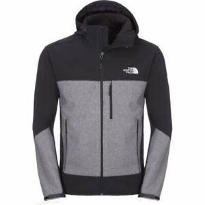 The North Face Apex Bionic Windwall Black Grey Jacket Hiking Walking Coat Large