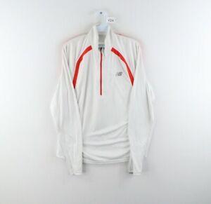 New Balance Mens Medium Spell Out Half Zip Pullover Running Jogging Sweater