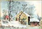 Currier & Ives |  The Old Homestead in Winter  Art Print
