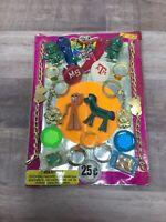Gumby Pokey, Flicker TV, Rings Asst Gumball Vintage Vending Display Card #EZ4