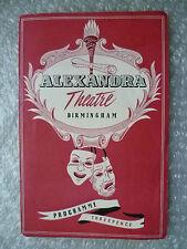 1953 Alexandra Theatre Programme PYGMALION- Bernard Shaw