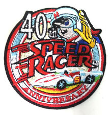 "Speed Racer 40th Anniversary Logo 3"" Round Patch- FREE S&H (SRPA-40th)"