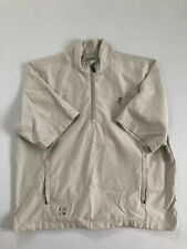 Ashworth Men's White Zip Long Sleeved Collared Jacket Size L