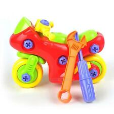 DIY Disassembly Motorcycle Design Educational Toys Gift for Children Kids Baby