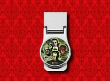 MONSTER CLASSIC HORROR DRACULA WOLFMAN MUMMY RD METAL STAINLESS STEEL MONEY CLIP