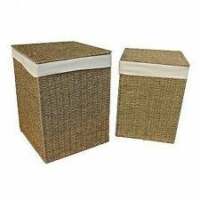 Seagrass Square Laundry Basket
