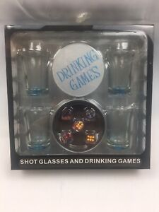 Drinking games Shot Glasses 4 Glasses And Set Of Dice