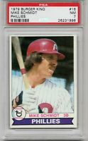 🔥 1979 TOPPS BURGER KING #16 MIKE SCHMIDT PHILADELPHIA PHILLIES PSA 7 NEAR MINT