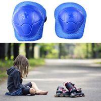 6tlg.Blau Kinder Protektoren Set Schützer Schoner Skateboard Schutzausrüst yk