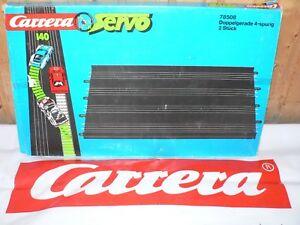 Carrera Servo 140 Double Straight 4-spurig 78508 New