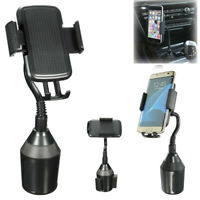 360° Universal Adjustable Car Cup Mount Cell Phone Holder Cradle Stand GPS PDA