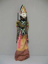 Ancienne marionnette en bois Jawa indonésienne asiatique.