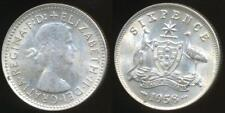 Australia, 1958 Sixpence, 6d, Elizabeth II (Silver) - almost Uncirculated