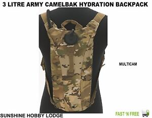 Army Military 3 Litre Aqua Bladder Camelbak Water Carrier Hydration Pack MULTICM