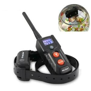 Dog Electric Collar Shock Training Remote Control Pet 330Y Waterproof Vibration