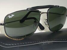 338f7474d7 58 17mm Vintage B&L RAY-BAN W0965 G15 Negro Exploradora Gafas de Sol Aviator