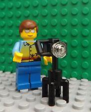 LEGO Brand New Mini Figure Man Holiday Maker City Camera Photographer Wedding