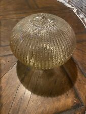 Vintage Amber Tinted Hobnail Glass Light Cover