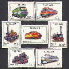 Tanzania 1991 Steam Engines/Trains/Railway 7v set s2540