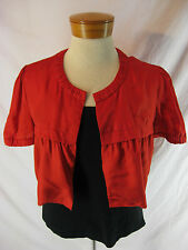 Gorgeous Sz S 8 10 Red Cropped Country Road Designer Jacket