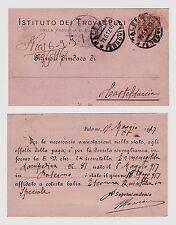 #PALERMO: testatina- IST. TROVATELLI- 1917 UNA NEONATA AFFIDATA ALLA BALIA...
