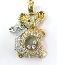 Chopard 18Kt Mother Daughter Bear Diamond Pendant 1.83CT 79/2724-20