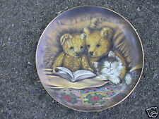 Franklin Mint Decorative Plate Bear Bedtime Story