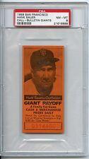1958 San Francisco Hank Sauer Call Bulletin Giants PSA 8 Pop 4