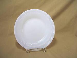 "Macbeth Evans Depression Glass Oxford Pattern Cremax White Bread Plate 6 1/4"""