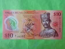 Brunei $10 Polymer 2011 (UNC) 1st Prefix D/1 425183