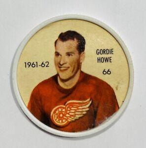 1961-62 SALADA FOODS Hockey Coins GORDIE HOWE Coin #66  (1/2)