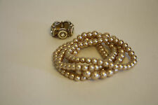 Faux Pearl Ring and Four Bracelet Set Stretch
