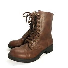 Brown Boho Faux Leather Cowboy Cuban Heel Oxford Shoes womens Boots Size UK 5